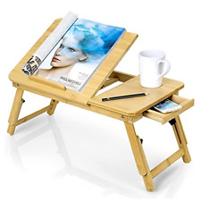 Zipom 100% Portable Bamboo Laptop Stand Foldable Desk Notebook Table Laptop Bed