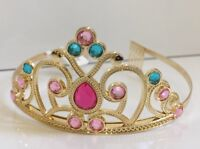 Girl's Claire's Gold Metal Princess Queen Tiara Crown Halloween Dress Up Pink