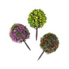 30 X Flowers Trees HO Scale Model Train Layout Garden Park Scenery Landscape