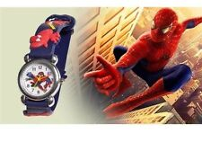 Spider Man Marvel Cartoon Child Boys Kids Analog Quartz Wrist Watch Rubber BLUE
