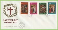 Montserrat 1971 Easter set on First Day Cover