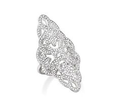 Genuine Thomas Sabo Silver Glam & Soul  Pave Cocktail Ring TR1989 Size 56 £275
