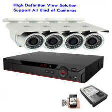4Ch 6MP HDMI DVR 1080P 4-in-1 OSD 2.6MP Outdoor 72IR Security Camera System