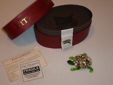 Fitz and Floyd Glass Menagerie Mosaic Turtle Glass Figurine/Box