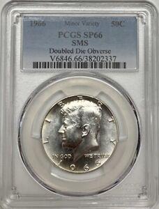 1966 SMS Kennedy Half Dollar PCGS SP66 DDO Silver Minor Variety Coin
