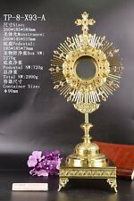 Ornate Brass Monstrance Reliquary for Church with Tabor Pedestal TP-8-X93-A