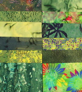 Vicky's Private Stash PRE-WASHED 12 Batik Fat Quarters Premium Quality Batiks