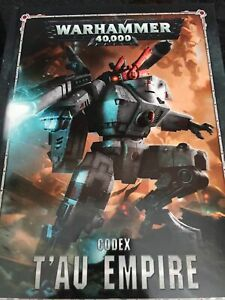 Warhammer 40k Tau Empire 8th Edition Codex Game Workshop 40,000 New HC Book T'au
