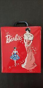 Vintage Barbie 1962 Red Ponytail Vinyl wardrobe carrying Case, no doll