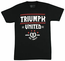 Triumph United Mens Undefeated T-Shirt - Black/Red - Small