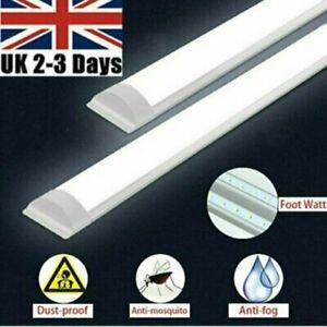 3FT 90cm LED Batten Tube Light Garage Ceiling Panel Lamp 6500K Daylight