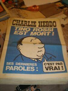 Lot de 32 anciennes revues de Charlie Hebdo de 1972