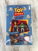 1995 Disney Pixar Toy Story Read Along Play Pack with Cassette Figures Rare