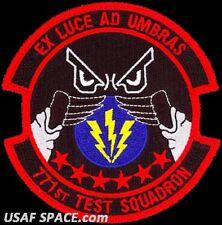 USAF 771st TEST SQ- Edwards AFB, CA- Electronic Warfare Group - ORIGINAL PATCH