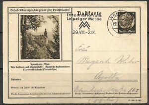 DR 1937 Ganzsachenpostk. P 236 - 6 Pf.d.braun Hdb- Motiv -Rudolstadt -,Weimar-Ap