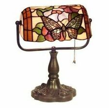 Warehouse of Tiffany Style Banker Butterfly Desk Lamp KS61+MB51