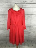 Women's French Connection Floaty Silk Dress - Size Uk10/12 - Great Condition