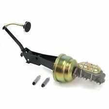 49-54 Chevy Car 7 Dual Brake Pedal kit Drum/Drum3in Chr Pad rat frame mount