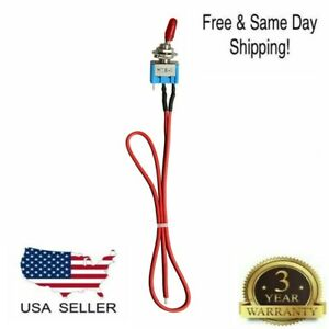 SPST Mini Toggle Switch Wires On/Off Metal Small Automotive/Boat/Car/Truck