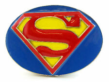 SUPER HERO S SUPER MAN SUPERGIRL CLASSIC LOGO BELT BUCKLE DC SUPERMAN SNAP BELT