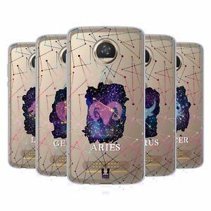 HEAD CASE DESIGNS ZODIAC CONSTELLATION GEL CASE & WALLPAPER FOR MOTOROLA PHONES