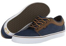 VANS Chukka Low (Leather) Denim/Brown Casual Shoes MEN'S 7 WOMEN'S 8.5