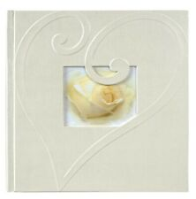 Wedding Heart Slip In Photo Album Memo Area Holds 200 6'' x 4'' 10x15cm PHOTOS