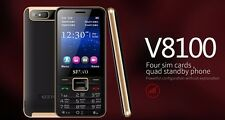 SERVO V8100 4 SIM cards 4 standbymobile phone Quad SIM  Quad Band 2.8 P064