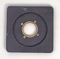 Deardorff Special 4X5/5X7 Lens Board & Flange For #0 Shutter