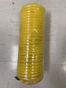 """25ft 1/4"""" Air Hose Re Coil Spring Ends Pneumatic Compressor Tools E101226"""