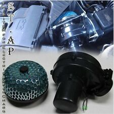 "AIR INTAKE (75MM) ELECTRIC SUPERCHARGER FUEL GAS SAVER HP+ 3"" INCH FILTER GREEN"