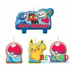 Pokemon Happy Birthday Cake Topper Candle Set 4pc
