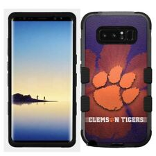 for Samsung Galaxy Note 8 Rugged Hard+Rubber Hybrid Case Clemson Tigers #B