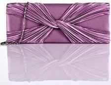 ANNE L. Damen Clutches Abendtasche Flieder Rosa Pink 27x10cm (BxH)