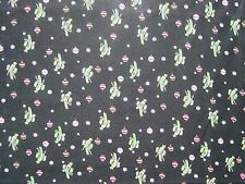 Fabric Knit 57 x 59 Christmas Ornaments Cactus Snowflakes Candy Canes Black