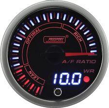 PROSPORT 60mm JDM Series Amber Red & White Led Warning Air Fuel Ratio Gauge