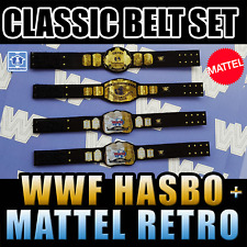 ♥ SET 4x HASBRO CHAMPIONSHIP BELTS GÜRTEL WINGED EAGLE INTERCONTINENTAL TAG TEAM