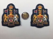 2 Canadian Military Air Force Chief  Warrant Officer Insignia Blue Canada