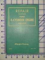 Vintage Ford Repair Manual 3695 47 Ford 4 Cylinder Engine 1941 1947 Ebay
