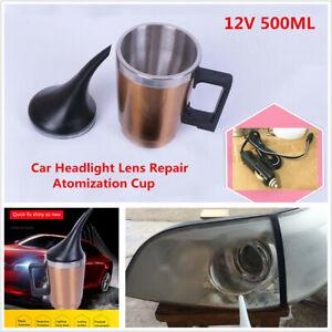 1x 12V Car Headlight Lens Repair Restoration Kit Polishing Atomization Cup 500ML