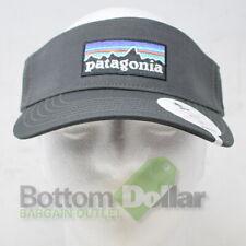 Patagonia P-6 Logo Visor Forge Grey 38126 Adjustable Baseball Visor Hat Cap