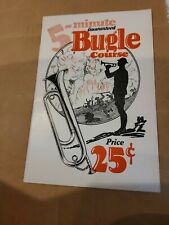 5 Minute Guaranteed Bugle Course 1929. New Old Stock. Music Store Liquidation.