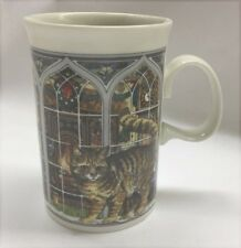 Cute DUNOON Scotland Coffee Tea Mug Cup Cat Kittens Christmas Holiday Window