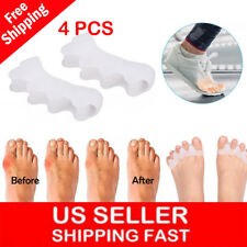 4x Gel Toe Separators Orthotics Stretchers Align Correct Overlapping Hammer Toes