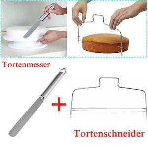 Edelstahl 2 Drähte Tortenschneider Tortenteiler Tortensäge + Tortenmesser  DHL