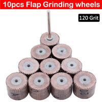 Disque de ponçage de papier abrasif à roue à lamelles 10 pièces outil rotatif