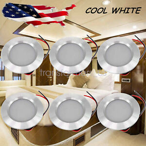 12V LED Lights Recessed Ceiling Light For RV Camper Interior Cool White 6000K