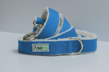 Hemp Dog Leash (Blue)|Fleece lined Hemp 5' Leash by Asatre