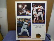 Texas rangers Nolan Ryan historical foundation stamped seal 7th no hitter print