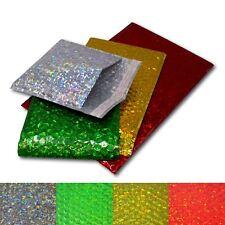 Holographic Metallic Gloss Foil Padded Bubble Mailing Gift Postal Bag Envelopes